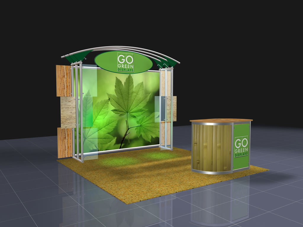 Portable Exhibition Display : Trade show booth displays go green